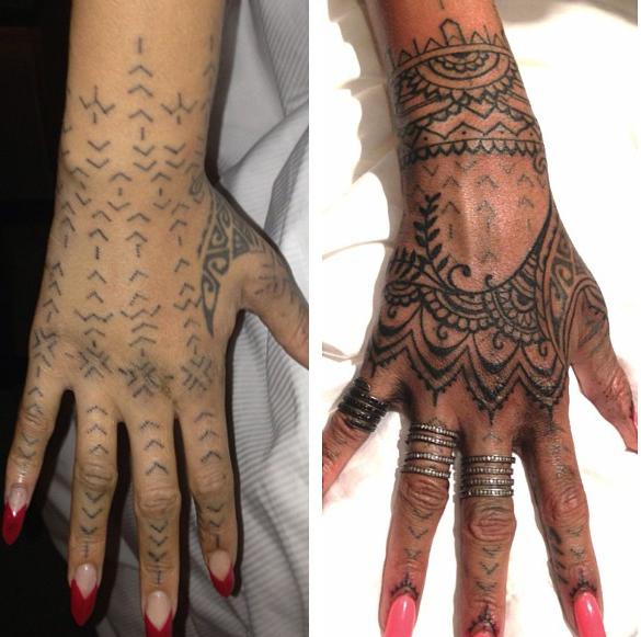 Www Evenpro Com Tatuaje Rihanna Tatuaje Dedos Mano Tatuajes Bonitos