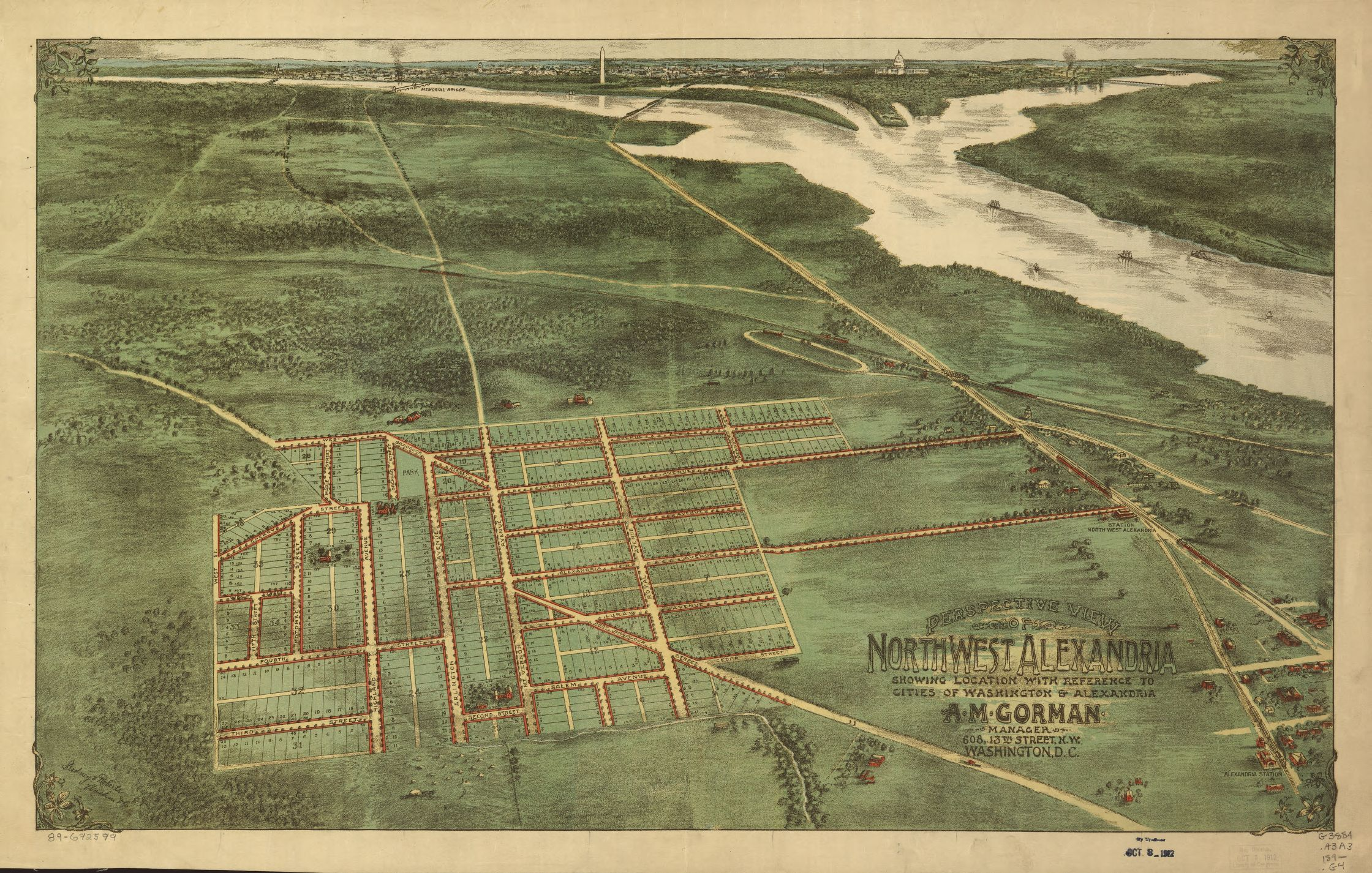 Perspective view of northwest alexandria showing location with perspective view of northwest alexandria showing location with reference to cities of washington alexandria alexandria virginiamap sciox Image collections