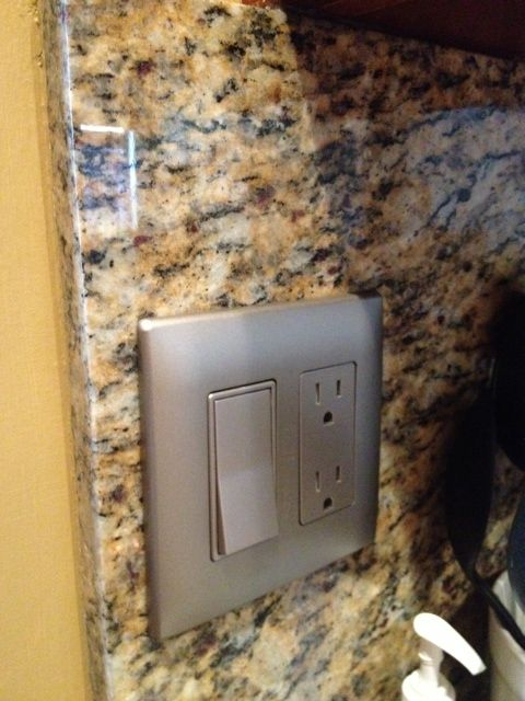 Stainless Outlet Covers : stainless, outlet, covers, Installed, Kitchen., Inexpensive, Plastic, Outlet, Covers, Stainless., #homedepot, House, Redesign,, Paint, Colors,, Kim's, Kitchen