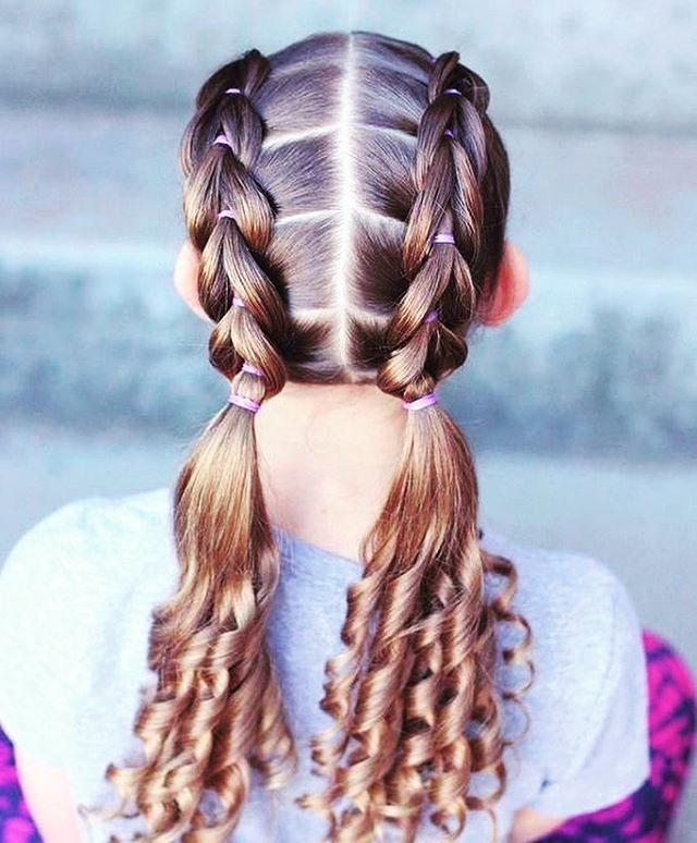 64 Schone Frisuren Madchen In 2020 Kids Braided Hairstyles Hair Styles Girl Hair Dos