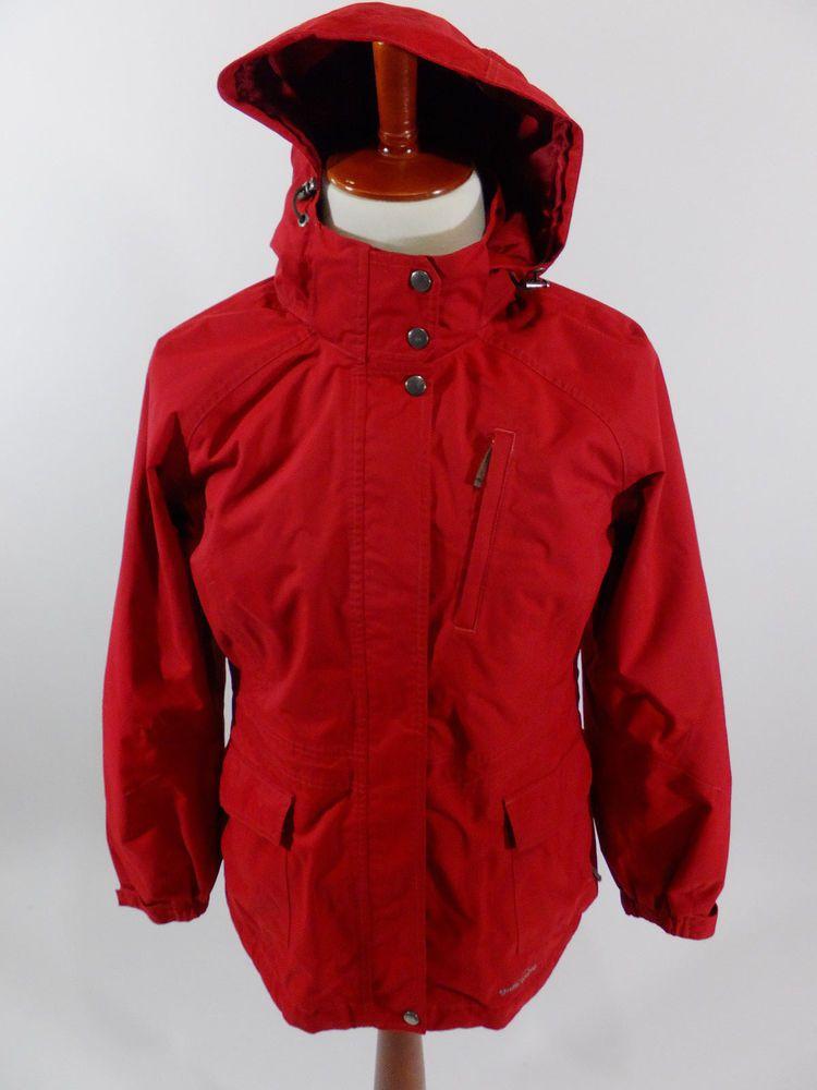 ab07c93d3e0 Eddie Bauer WeatherEdge Waterproof Hood Red Jacket Rain Coat Men ...