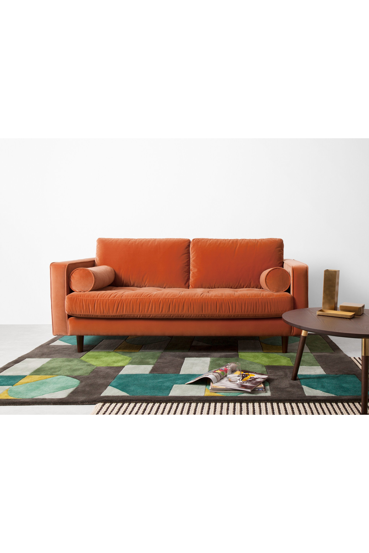 Made Sofa Orange In 2020 Orange Couch 2 Seater Sofa Sofa