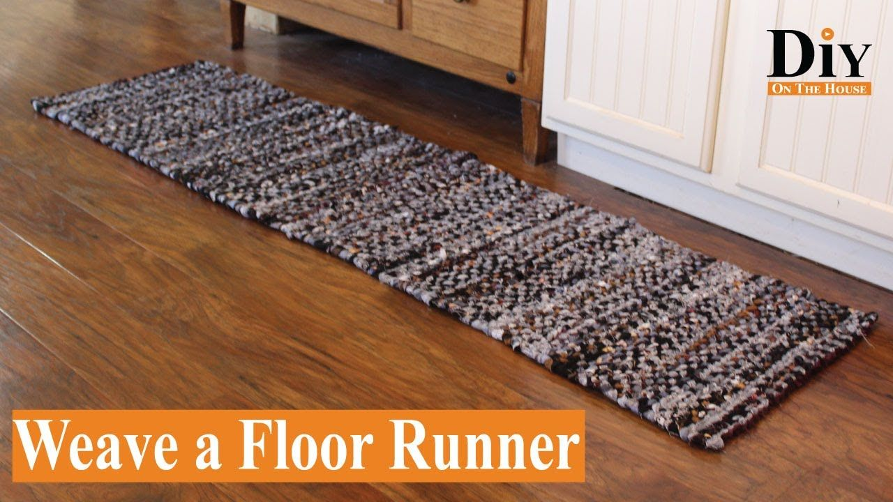 How To Join Two Rag Rugs Together To Weave A Floor Runner Or Area Rug With A Small Loom Youtube In 2020 Rag Rug Rug Loom Floor Runners