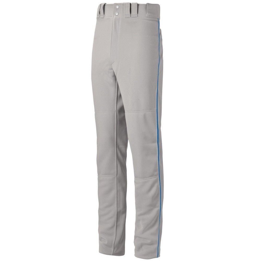 Mizuno Youth Boys Premier Pro Piped Baseball Pant G2 Size Extra Extra Large In Color Grey Royal 9152 Baseball Pants Gray Color Baseball
