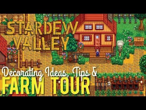 Stardew valley farm tour  decorating tips youtube also rh pinterest