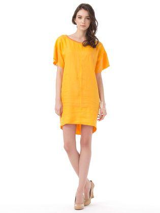MARELLA - switching sleeve dress