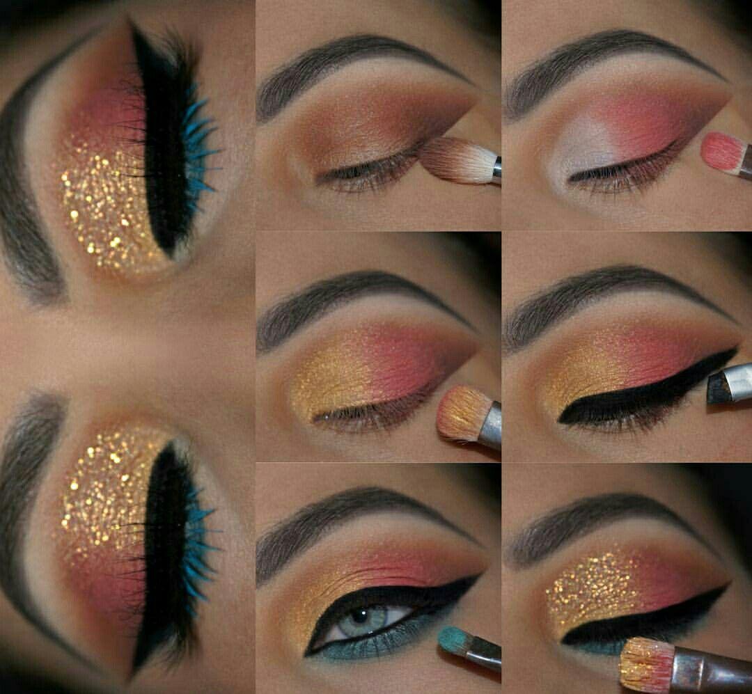 макияж глаз пошаговое фото с блестками арболитовых блоков