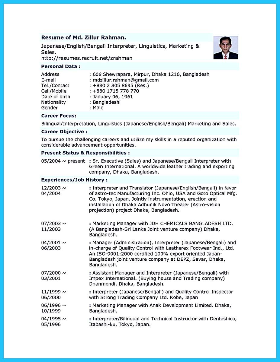 Business Development Manager Resume Making A Bilingual Resume Is Not Easybut We Have Some Ideas To