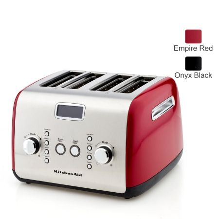 Kitchenaid Artisan Series 4 Slice Toaster Kmt423 Start Your Day With The Perfect Slice Of Toast Keep Warm Defrost Or Reheat With T Quality Kitchens Kitchen Appliances Kitchenaid Artisan
