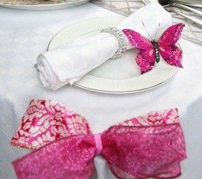 butterfly napkin holder rings would be really cute