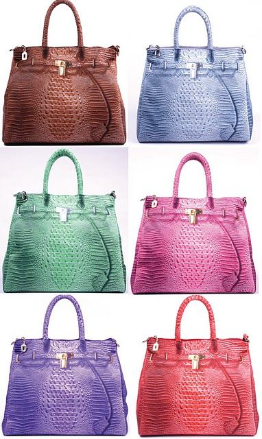 Crocodile Hermes Birkin Handbags in every color