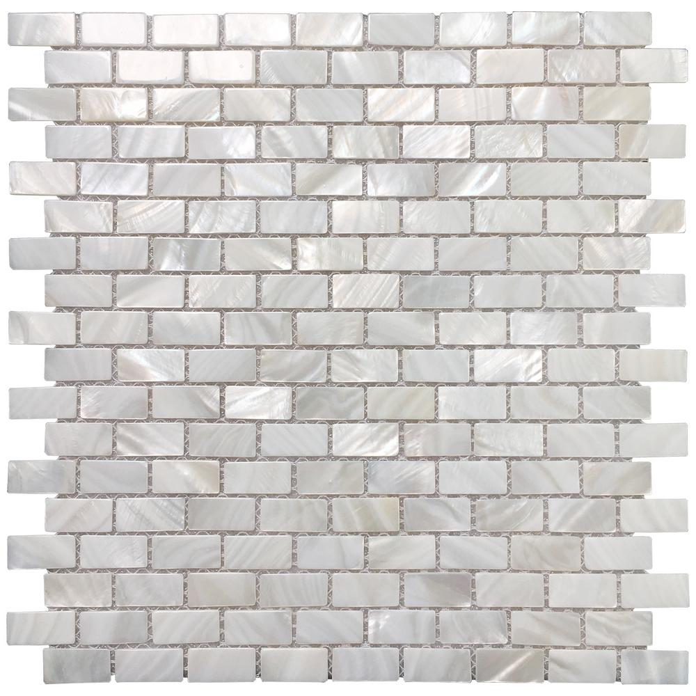 - Art3d 12 In. X 12 In. Mother Of Pearl Backsplash Mosaic Subway