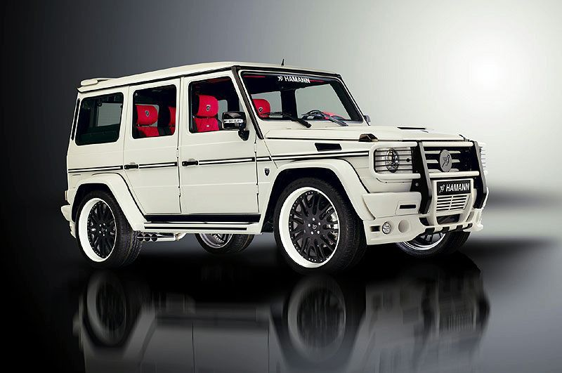 the infamous g wagon is not g until you trick it out with some wheels accents and maybe some go fast parts hamann a well known german tuner company - White G Wagon Red Interior