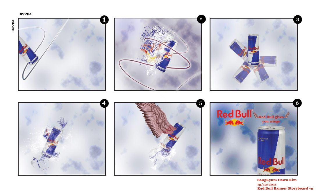 Red Bull Banner Storyboard  Red Bull And Storyboard