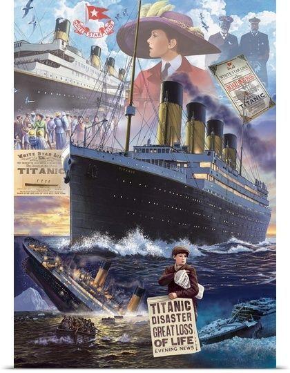 Titanic - Vertical Poster Art Print, History Home Decor