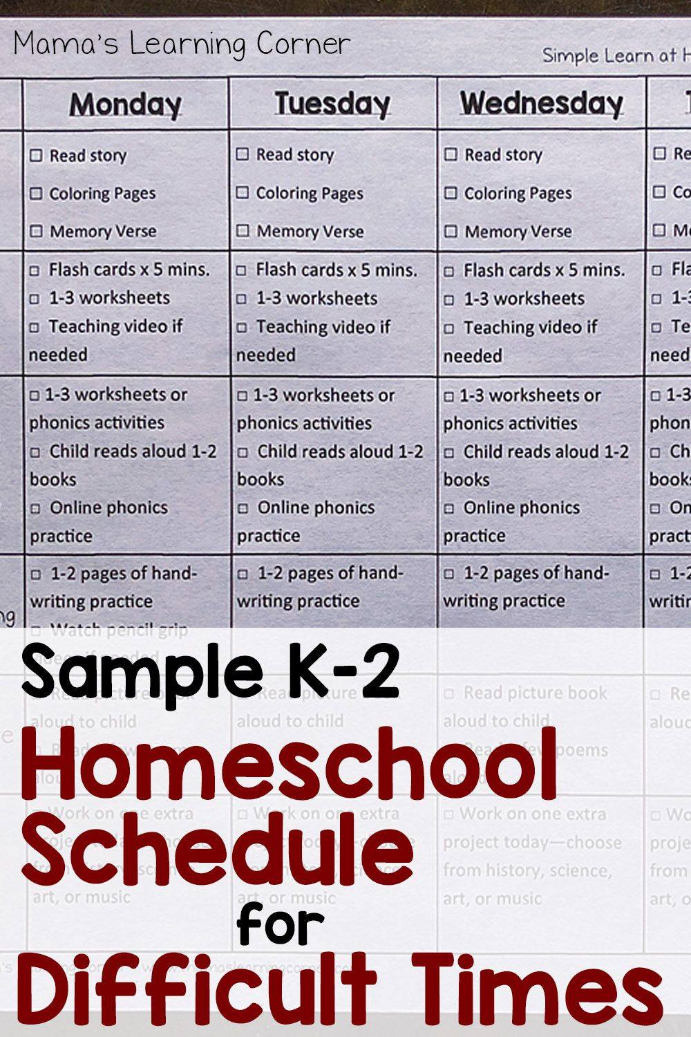 Sample Schedule For Homeschool During Difficult Times Homeschool Preschool Schedule Kindergarten Homeschool Schedule Homeschool Checklist [ 1500 x 1000 Pixel ]