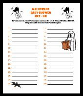 image about Free Printable Halloween Games titled Absolutely free Printable Halloween Kid Shower Activity. halloween
