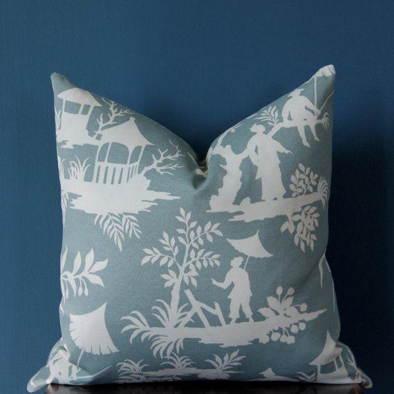 Chinoiserie Pillow Cover Outdoor Pillow Cover Asian Pillow Decor