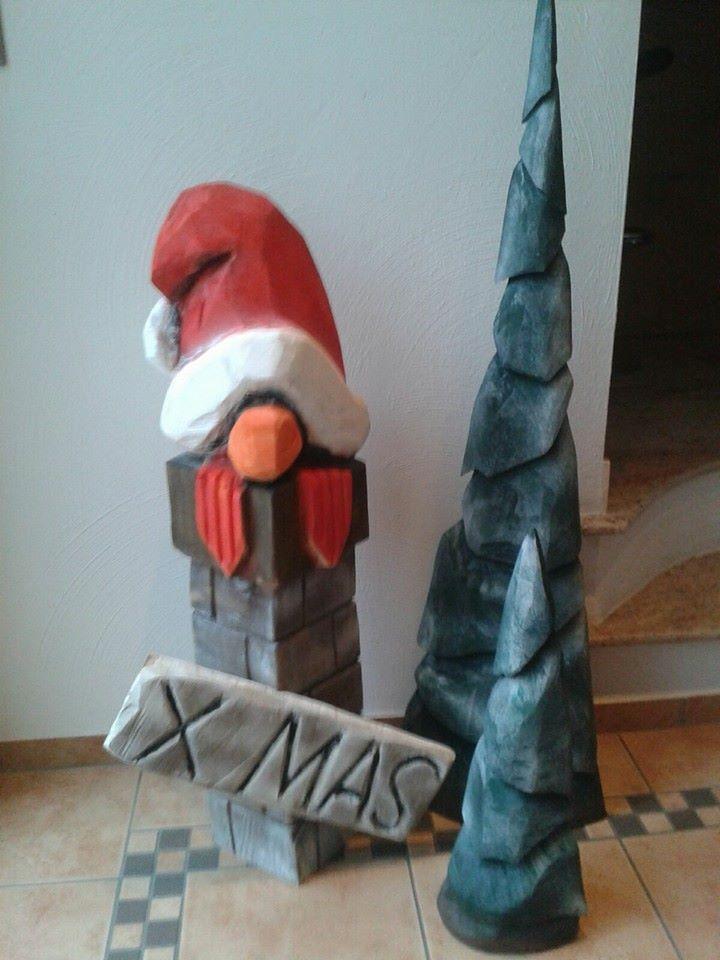 Wichtel Weihnachten , Kettensägenkunst
