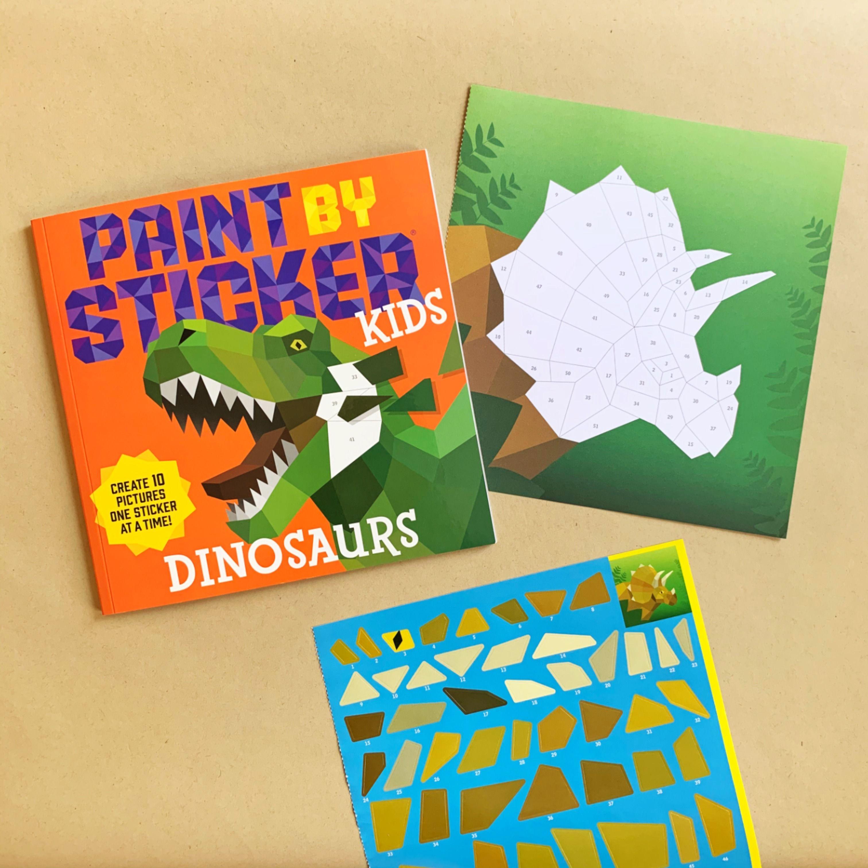 Paint By Sticker Kids Dinosaurs Kids Stickers Dinosaur Kids Dinosaur [ 3024 x 3024 Pixel ]