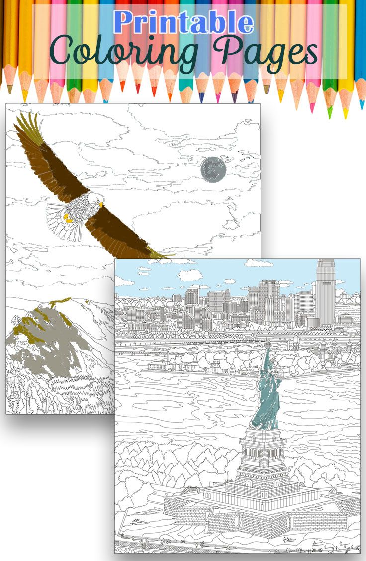 Get Patriotic With America The Beautiful Printable Coloring Pages