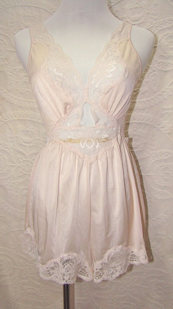 ~1970's Vintage Olga Teddy Romper Bodysuit with by PeignoirPenthouse, $42.00