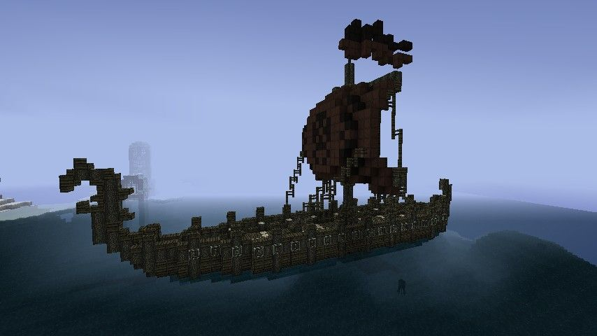 Viking Longboat [Schematic] Minecraft Project | Castles and Viking on small minecraft ship plans, small minecraft yacht tutorial, small minecraft village, small boats mod minecraft,