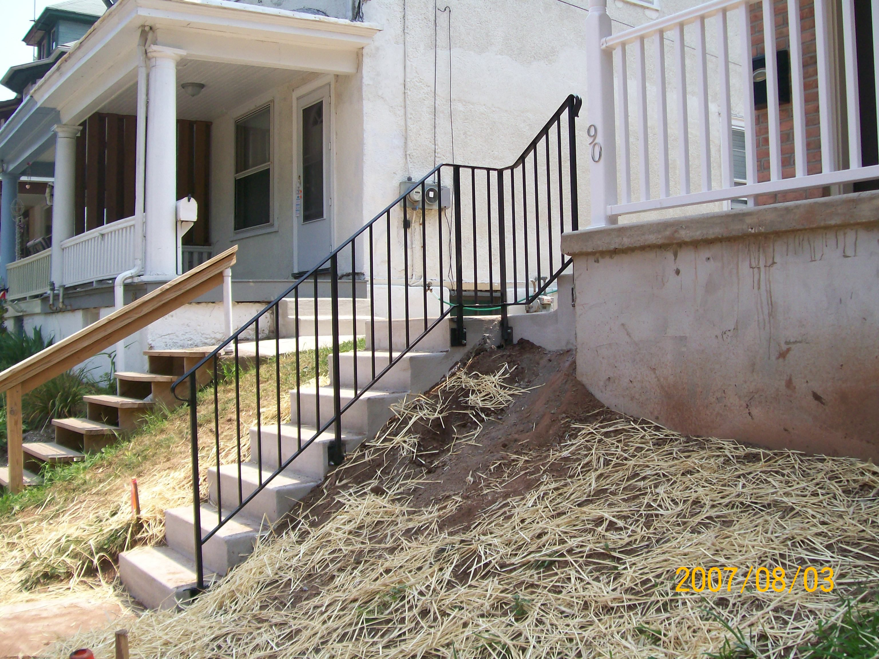 Mounted On Side Of Steps For Narrow Stair Cases Outdoor