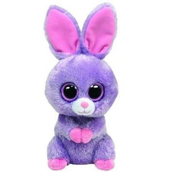 Ty Beanie Boos Petunia Purple Bunny Toys