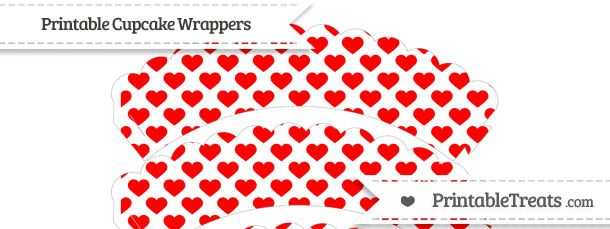 free-red-heart-pattern-scalloped-cupcake-wrappers-to-print Misc - halloween decoration printouts