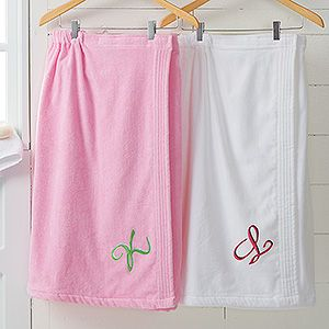 Monogrammed Ladies Terry Cloth Spa Towel Wrap - 9755 72d8dfdc4