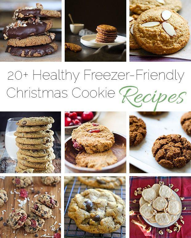 20+ Healthy Freezer-Friendly Christmas Cookie Recipes - A roundup of 20+ healthy, freezer-friendly Christmas cookies in one place! | Foodfaithfitness.com | @FoodFaithFit