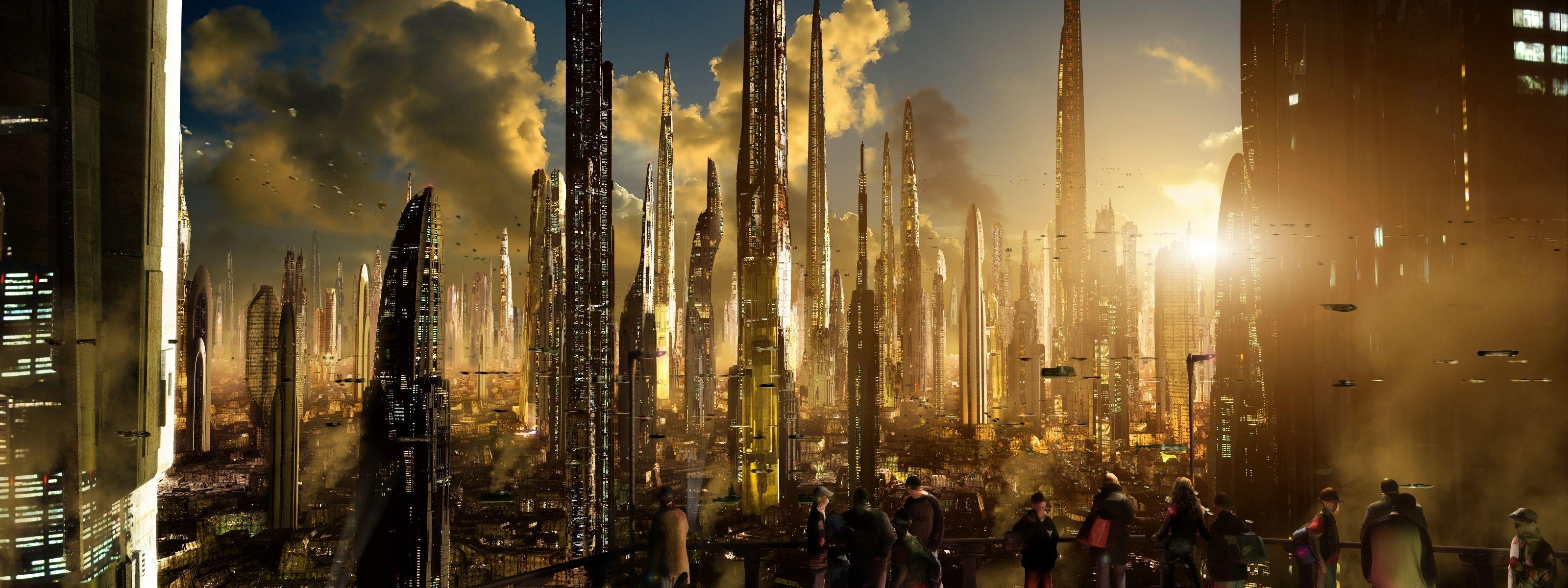 scott-richard-sci-fi-ships-towers-sunset | Science Fiction ...