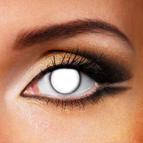 Orange werewolf eyes crazy contact lenses #coloredeyecontacts