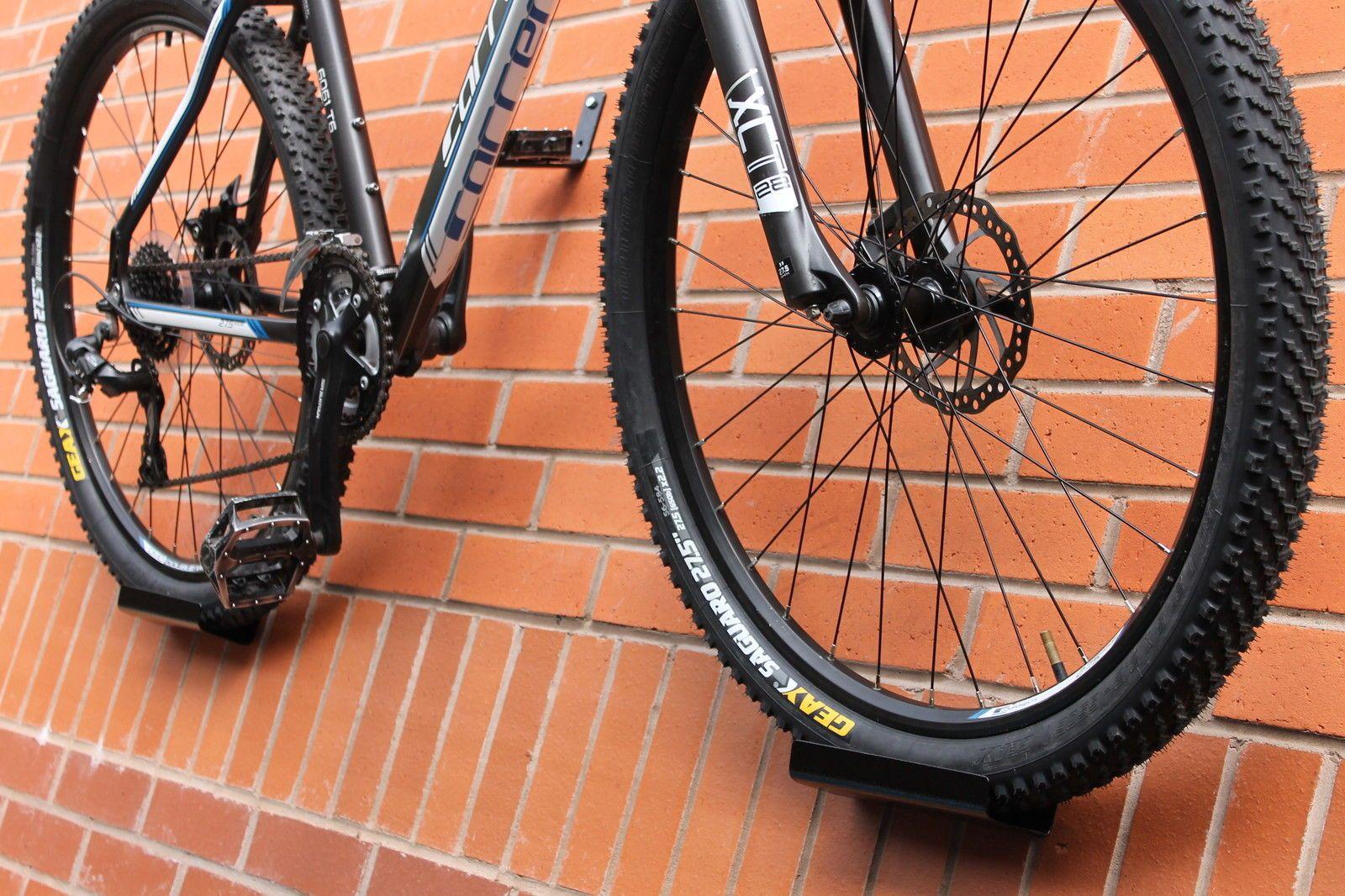 Details About Bike Rack Pedal Hook Wall Mount Hanger Wheel