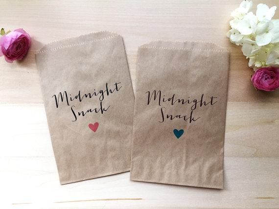 Custom Wedding Favor Bag Candy Buffet Bags Favors Treat Midnight Snack