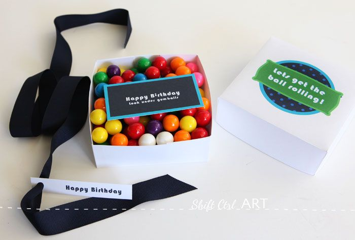 Gumball gift card box with printable - make your own box
