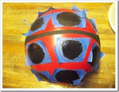 How to make a bowling ball Ladybug