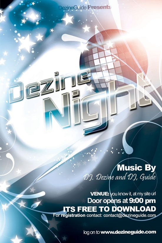 Dezine Night FlyerPoster Template  Sales  Marketing
