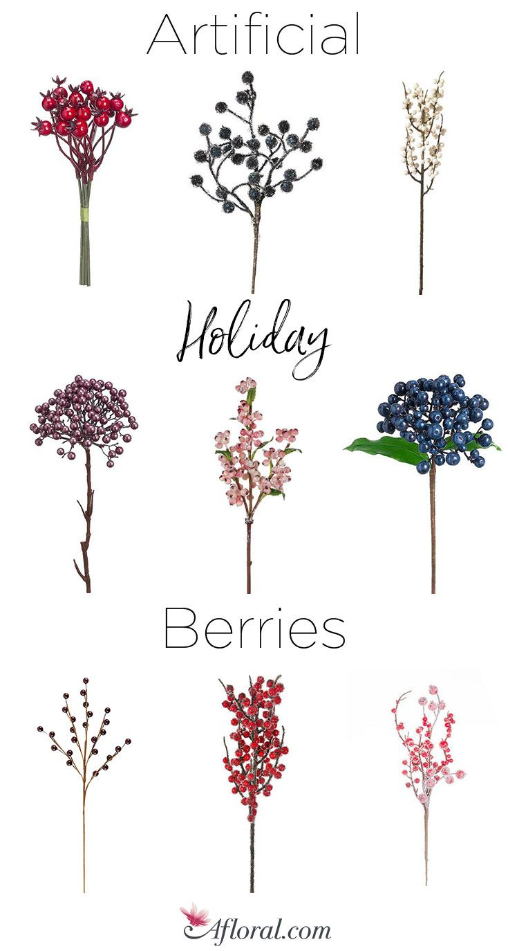 Artificial Holiday Berries Holiday Berries Artificial Flowers Fake Flowers