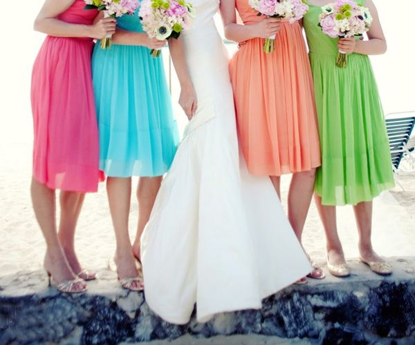 9878303a1e56 Mismatch Bridesmaid Dress Ideas - Colorful Beach Casual Bridesmaid Dresses