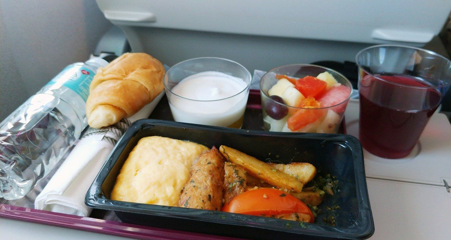 Air France Lenotre meal review, economy and business class