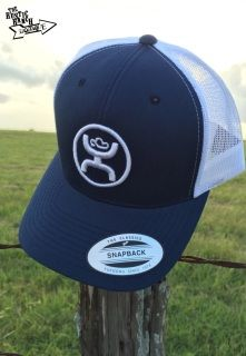 Two tone Navy Blue and White Trucker Classic mesh back White HOOey