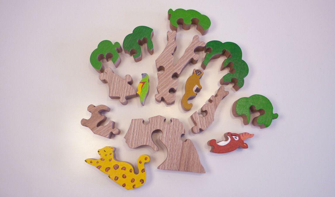 En Ses La Savane Et Animaux Bois De 14 JouetPuzzle Baobab bmgYyvIf76
