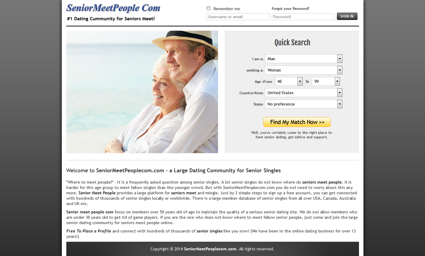 Free seinor dating sites