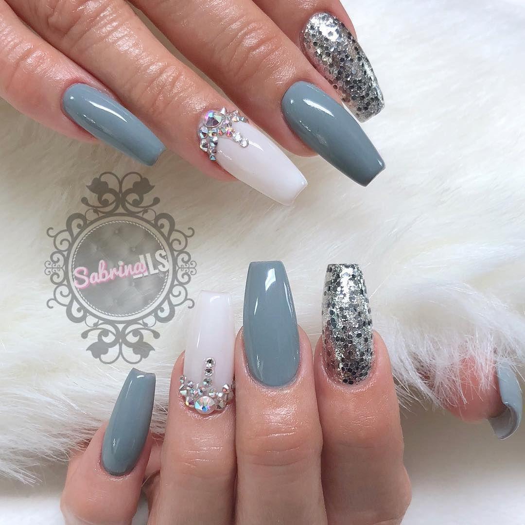 Nails before males • @lechatnails Marshmallow Gin @naillabousa SC ...