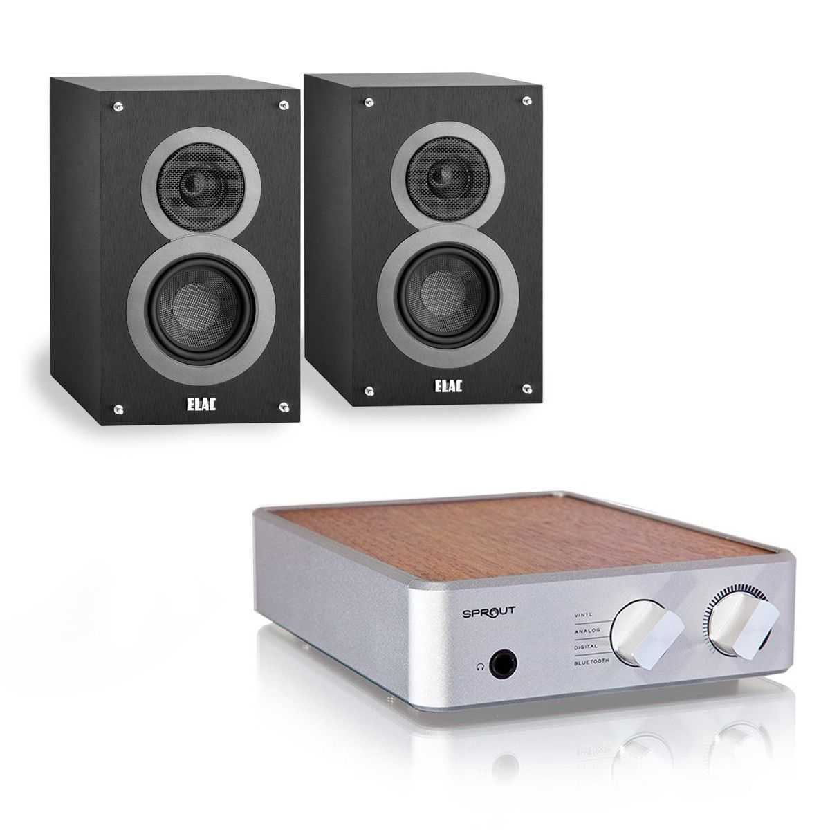 PS Audio Sprout Integrated Amplifier Elac B4 Bookshelf Speakers