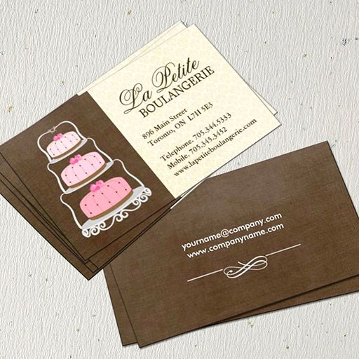 customizable cake bakery business cards - Bakery Business Cards