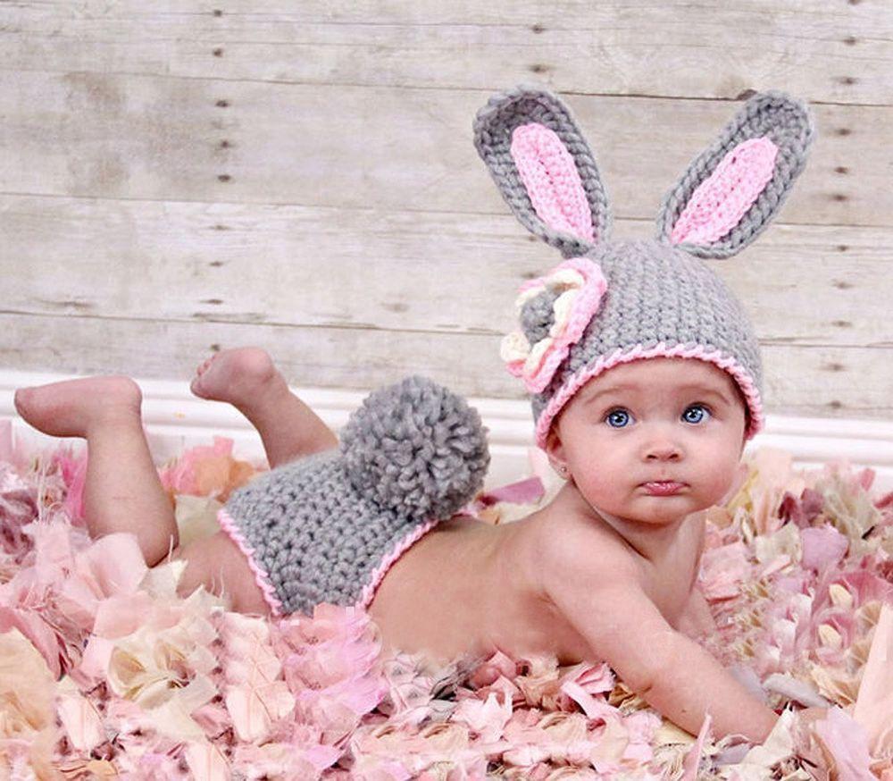Neugeborenen Baby Fotografie Strick Mütze Kostüm Fotoshooting ...
