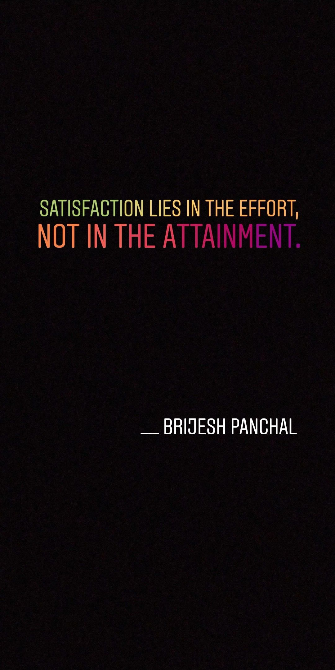 Not In The Attainment